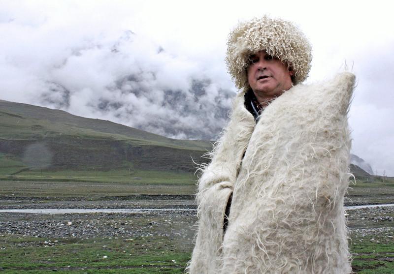 Быть может, за хребтом  Кавказа.... <br /> Rustem wearing traditional Caucasian dress - hey, I'm a mountain man.