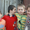Kids in the Kambileevskoe refugee camp.