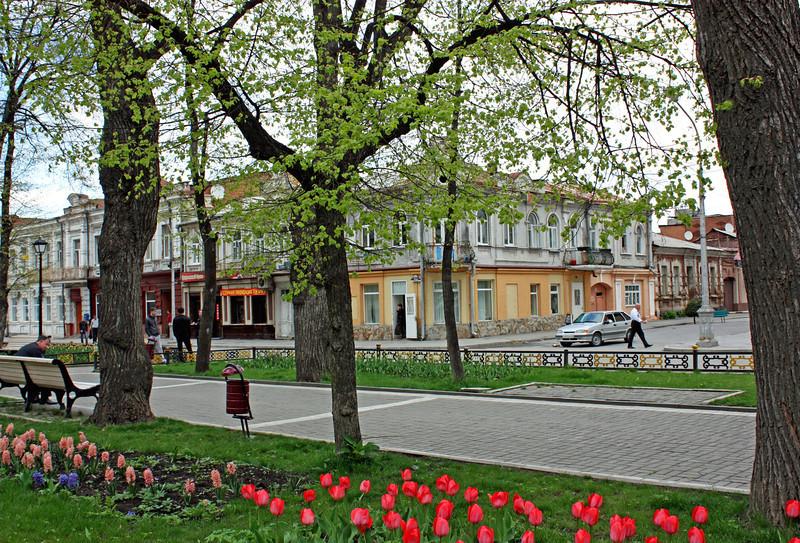 Springtime in Vladikavkaz.