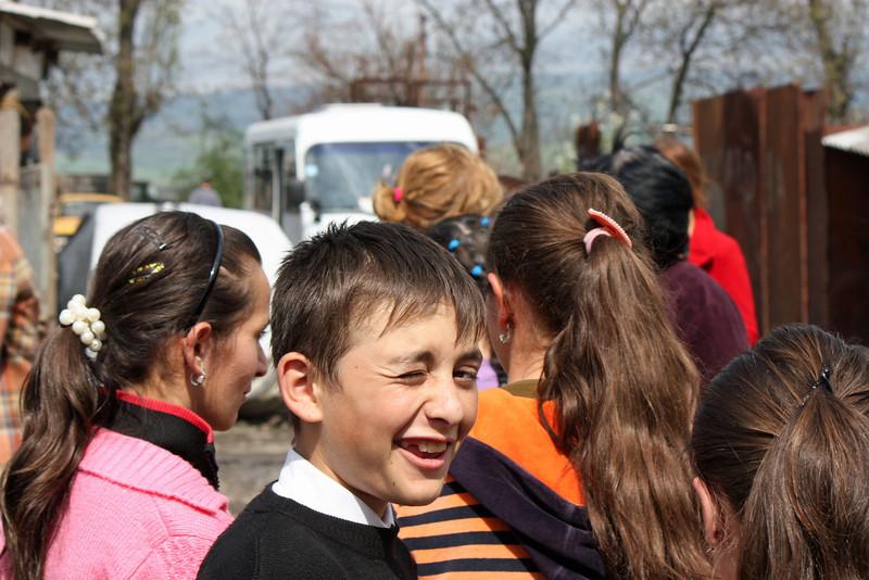 Kids at the Kambileevskoe refugee camp.