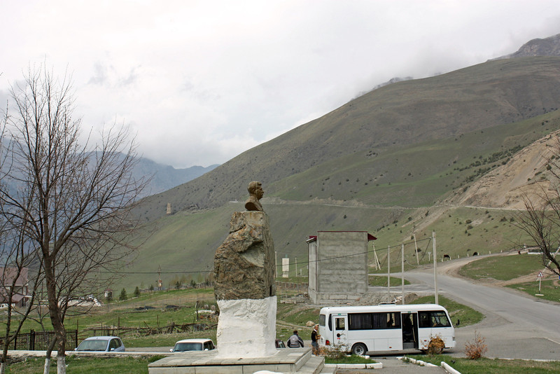 Monument to Stalin. Locals believe he was Ossetian, not Georgian.