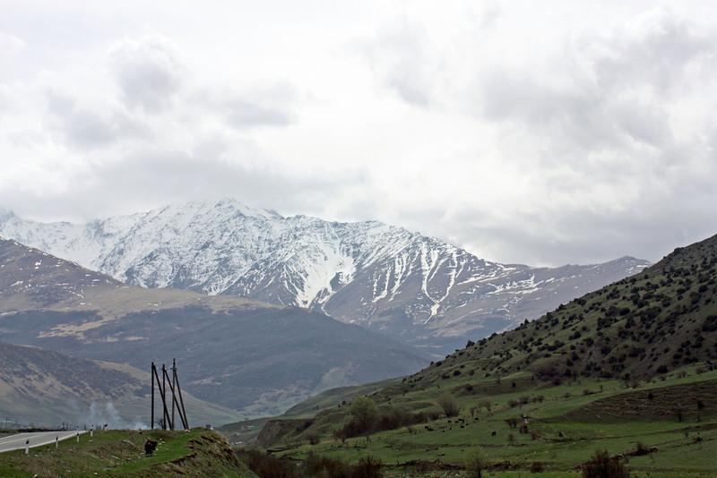 The glorious Caucasus Mountains.