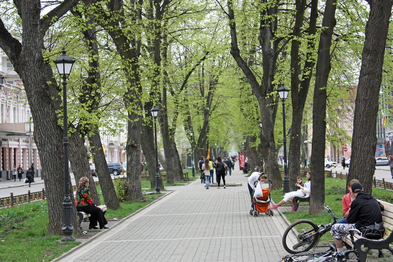 Enjoying a spring day in Vladikavkaz.