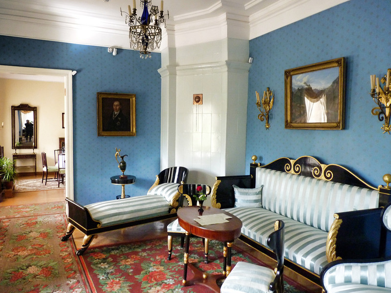 """My home is always there, in the heaven's vault..."" ~Mikhail Lermontov<br /> <br /> The parlor at the Tarkhany estate of famous Russian author & poet, Mikhail Lermontov."
