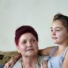 Марьям Бадаева с внучкой Альбиной. Albina & her grandmother, Mariam.
