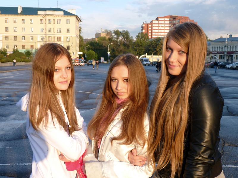 Три юные пензенские грации. Penza girls.
