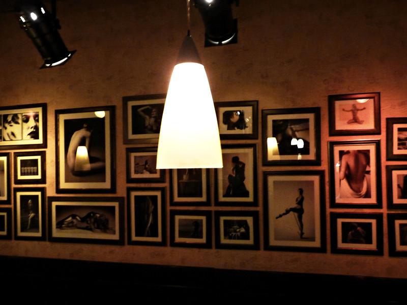 Photos on the wall in café Jean-Paul.