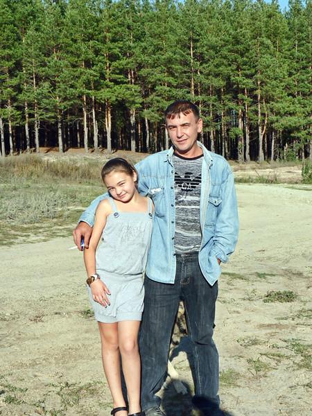 Альбиночка и папа Рафаил. Albina & her father, Rafael.