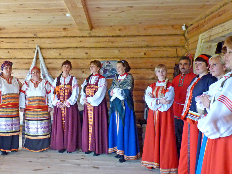 While some wore ballgowns & tuxedos, the serfs wore traditional handwoven clothing.