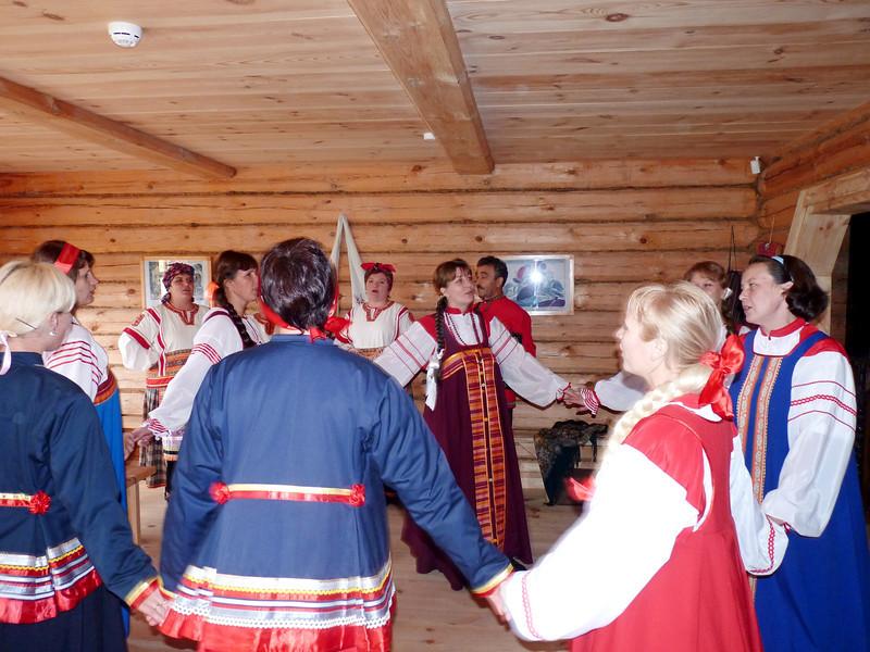 Traditional Russian peasant dancing.