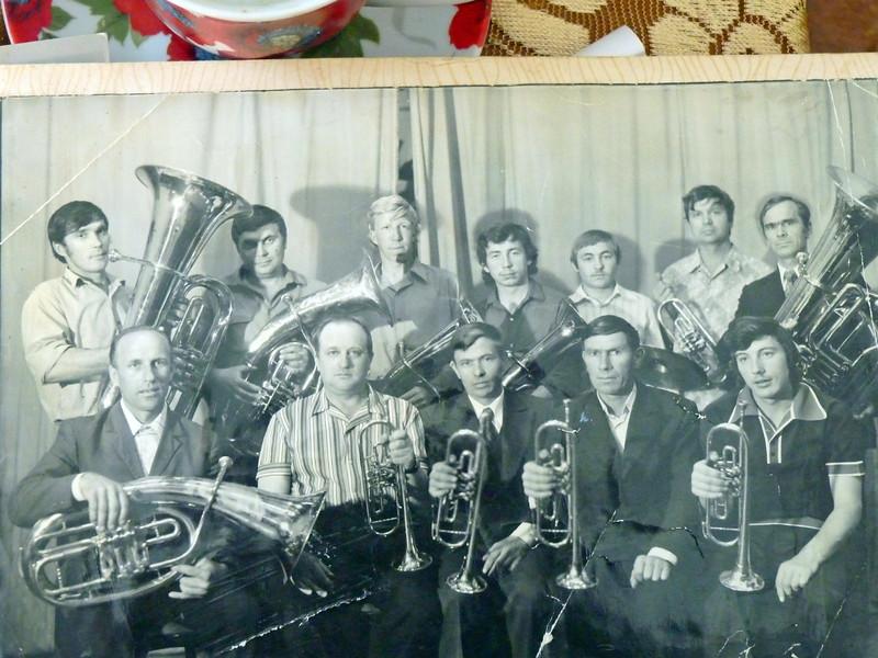 Mom Safronova's cousin Yusef on the left with the tuba.