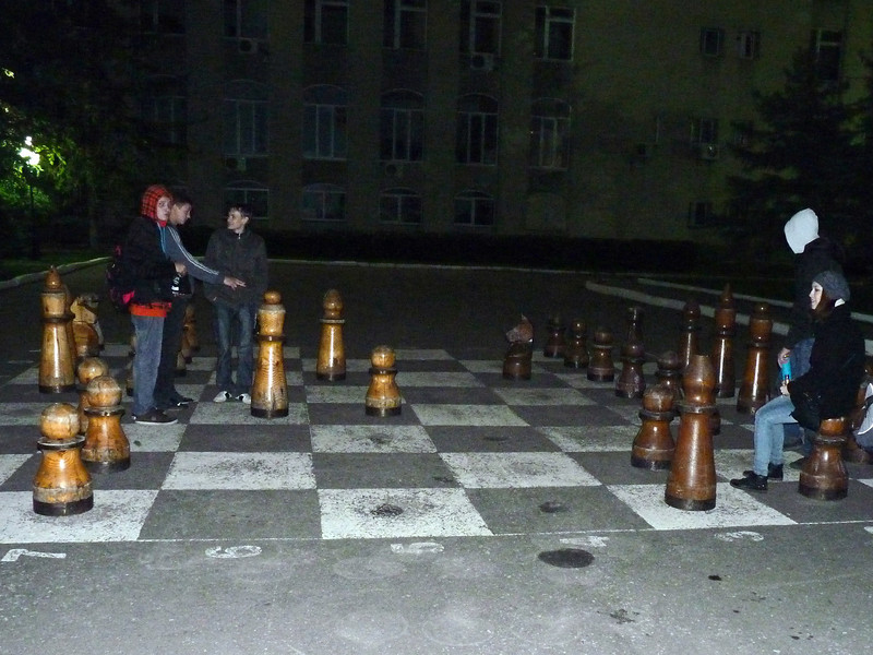 Night time chess in Penza.