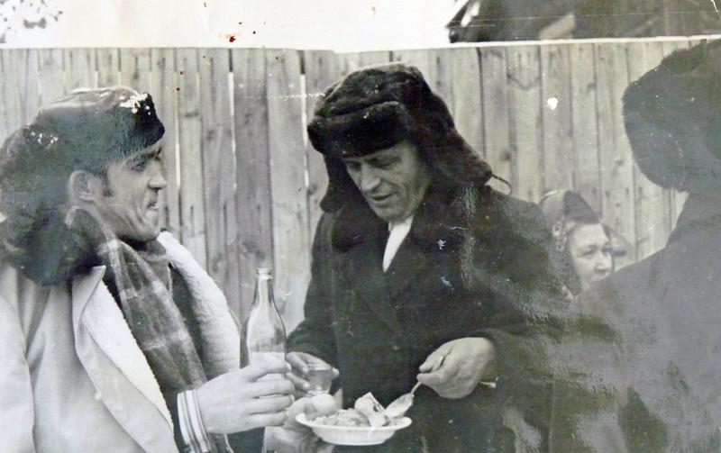 Юсеф и Рашид Бадаевы. 80-е годы. Верхозим.