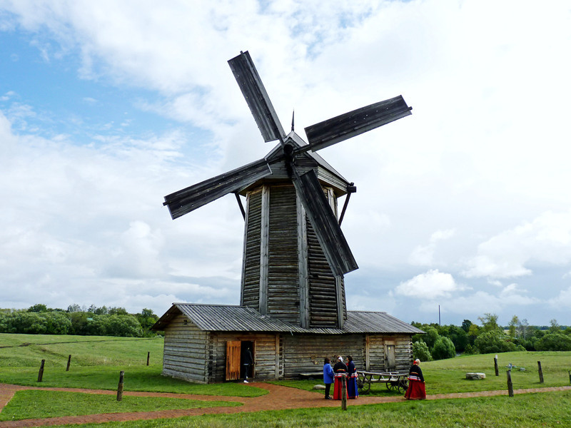 Windmill at Tarkhany in the area where the serfs lived.