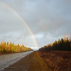 Rainbow on the road to Parmailovo. (Perm Region, Russia)