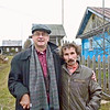 Rustem with local Parmailovo artist, Yegor Utrobin.