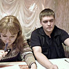 Lena & Dima dining out in Perm.