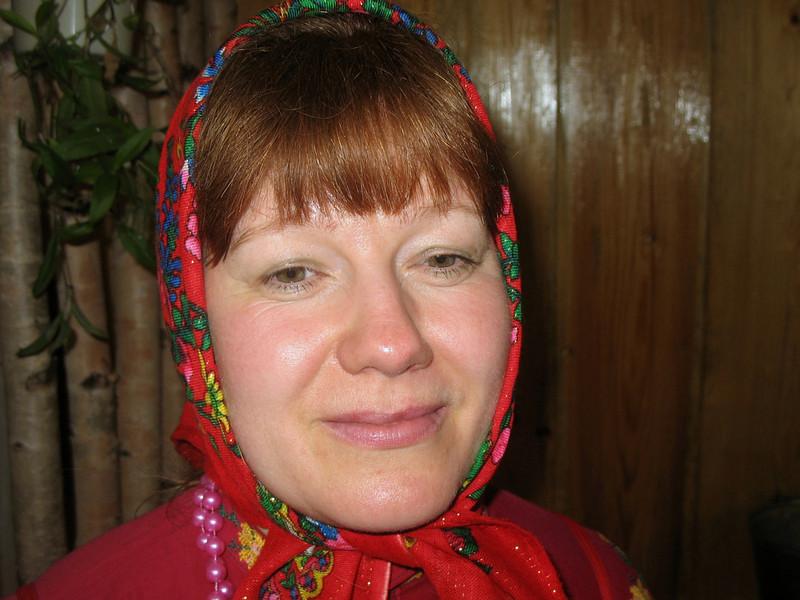 Komi-Permyak woman. (Parmailovo Village, Perm Region, Russia)