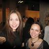Katya Goldobina, Marat Gelman's assistant, at the Graphic Arts Biennale. (Perm Museum of Contemporary Art)  На биеннале графики в Перми. Справа - Катя Голдобина, помощница Марата Гельмана.
