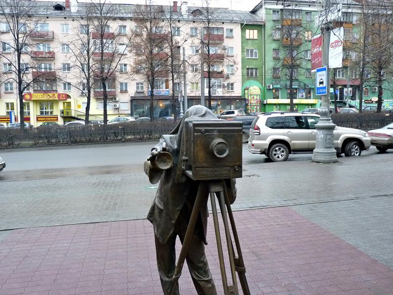 Sidewalk photographer. (Perm, Russia)