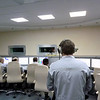 Control room on the ready for a rocket engine test. К пуску готовы!