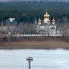 На другом берегу Камы. Church on the Kama River bank.