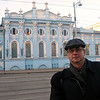 Tourist shot of me in front of the Gribushin House.