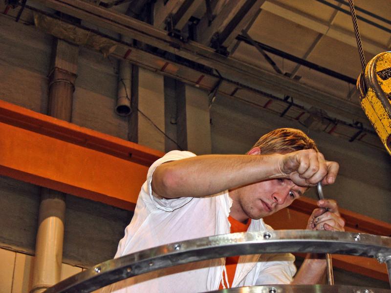 Concentration. (Perm Motors Factory)
