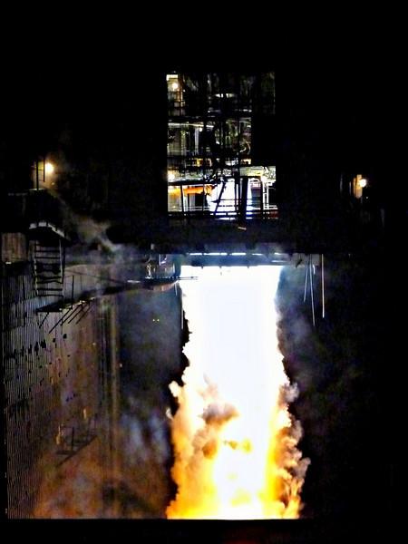 Blast off! Rocket engine test at Proton-PM.  Незабываемое зрелище - испытание ракетного двигателя.