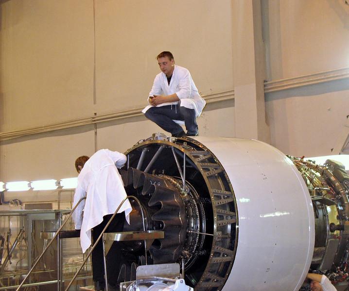 Atop an engine. (Perm Motors Company)
