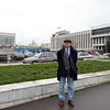 In front of the Perm concert hall & an administrative building.