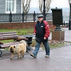 Out for a walk with his dog. (Perm, Russia)