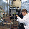 RT cameraman, Dmitry Belyansky, shooting at Perm Motors Company.