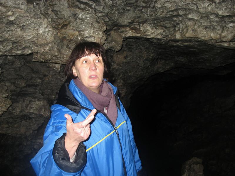 "Speleologist Svetlana Kozlova.  Светлана Козлова, спелеолог, директор турагентства ""Сталагмит"" в Кунгуре."