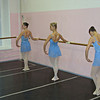 Ballet students performing at the Institute of Culture. The Perm Ballet is the third major ballet school in Russia.