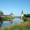 Kremlin Towers reflected on the Pskov River.