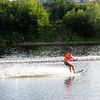 Water skiing on the Velikaya River. (Pskov)