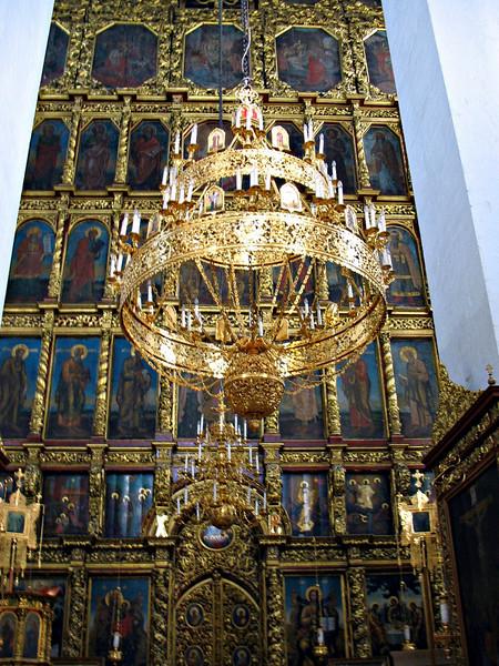 Trinity Cathedral interior with iconostasis.