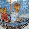 Fresco of The Apostles in their travels. Transfiguation Church, Mirozh Monastery.