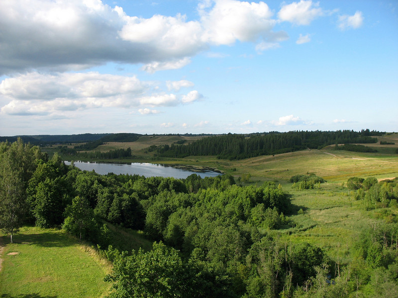 Pastoral Izborsk as viewed from the fortress tower.