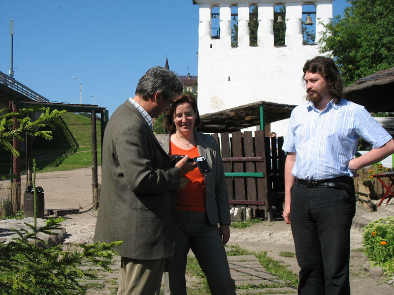 Rustem with guests from the Pskov Archeology Center, Elvira & Taras.