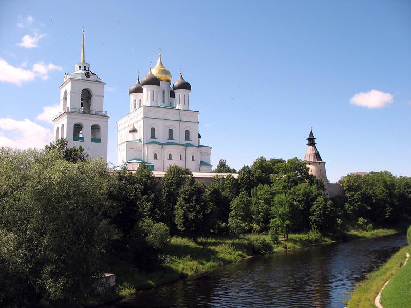 Pskov Kremlin & Trinity Cathedral.