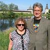 Us on the smaller Pskov River.