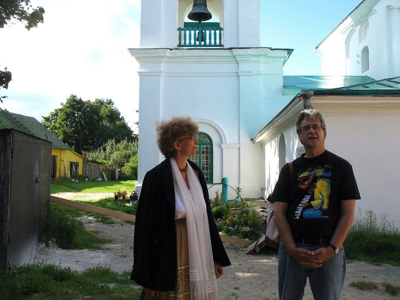With our Izborsk guide, Ludmilla.