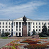 Pskov State University Lenin statue.