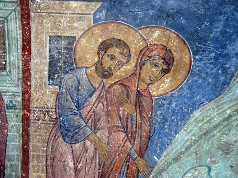 Transfiguation Church of the Mirozh Monastery ~ 12th century fresco.
