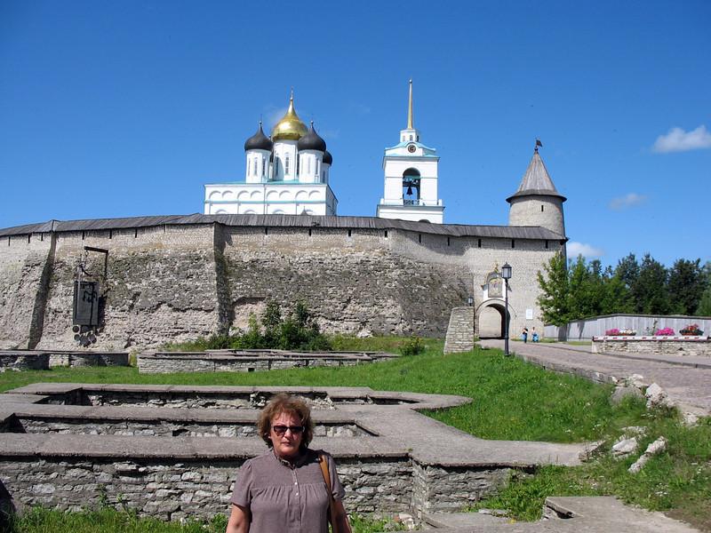 Outside the Kremlin walls.