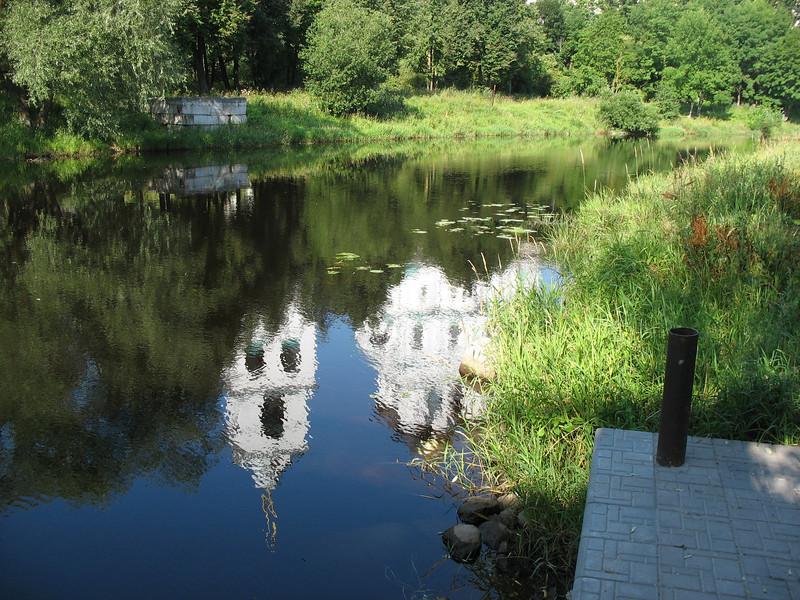 Pskov tranquility ~ Pskova River reflection.
