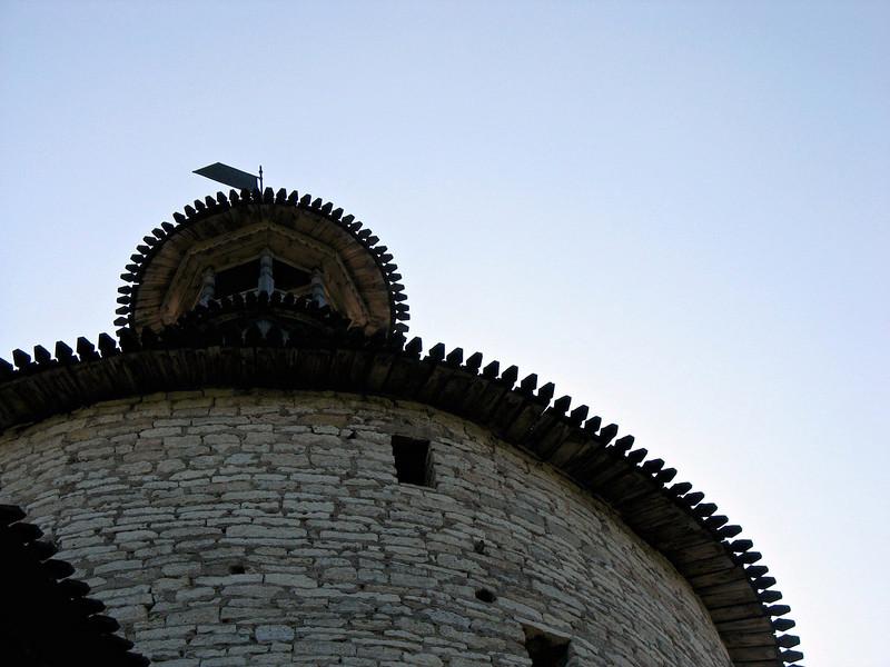 Pskov Kremlin tower. During the fifteenth century the Kremlin withstood 26 sieges.