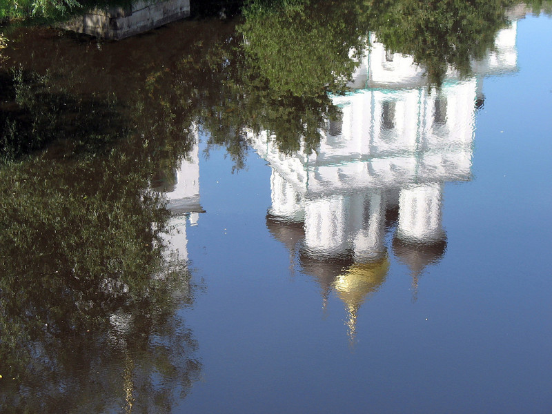Trinity Cathedral reflection.